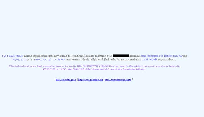 internet sitesine erişim engelleme